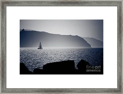 Framed Print featuring the pyrography Vela by Bruno Spagnolo