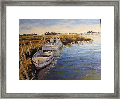 Veldrift Boats Framed Print by Yvonne Ankerman