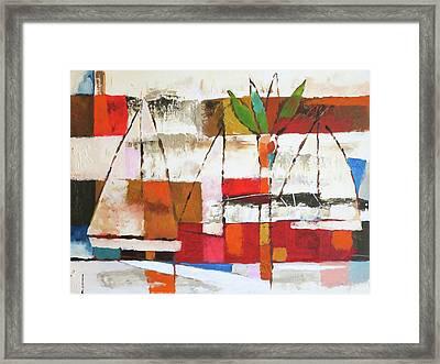 Veleros Framed Print