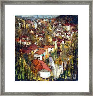Veliko Tarnovo - Panorama Framed Print by Michael Stoyanov