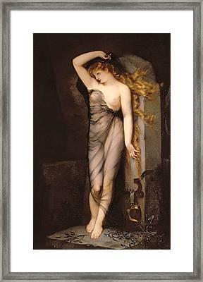 Velleda Framed Print by Charles Voillemot