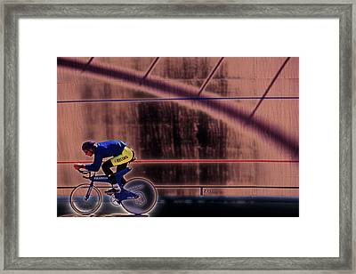 Velo Cyclist Framed Print