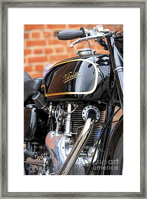 Velocette Thruxton  Framed Print by Tim Gainey