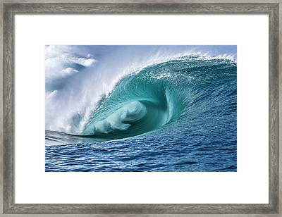 Velocity Curl Framed Print by Sean Davey