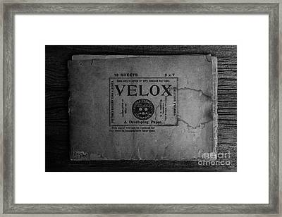 Velox Developing Paper Antique Paper Framed Print by Edward Fielding
