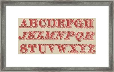 Velvet Letter  Framed Print by English School