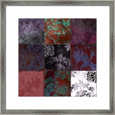 Velvet Patch Asian Red Framed Print