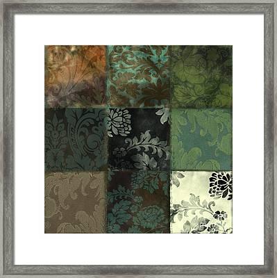 Velvet Patch Emerald Framed Print