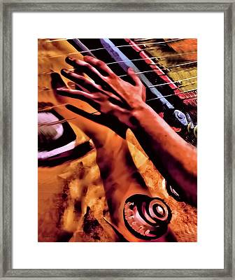 Velvet Strum Electric Framed Print