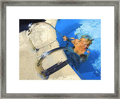 Framed Print featuring the photograph Vence Pool by Richard Wiggins