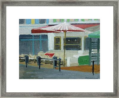 Vence Restaurant Framed Print by Robert Rohrich