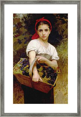 Vendangeuse Framed Print by Adolphe William Bouguereau