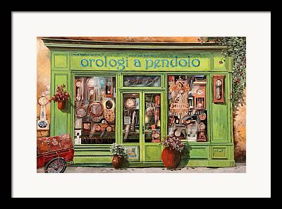 Clock Shop Framed Prints