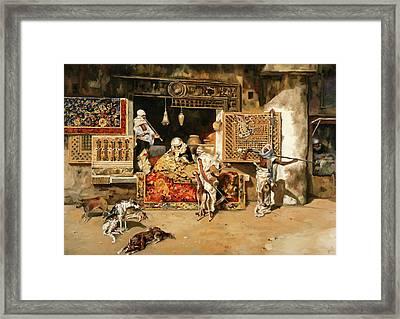 Vendita Di Tappeti Framed Print by Guido Borelli