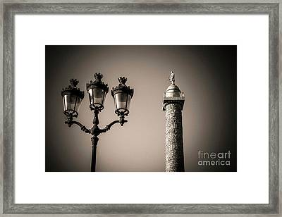 Vendome Column. Paris. France. Framed Print by Bernard Jaubert