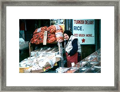 Framed Print featuring the photograph Vendor by Douglas Pike