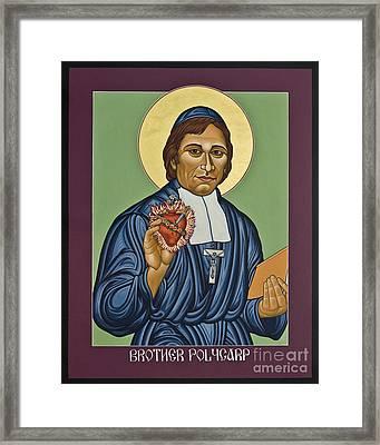 Venerable Br. Polycarp - Hippolyte Gondre - Lwply Framed Print by Lewis Williams OFS