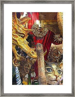 Venetian Animal Masks Framed Print by Mindy Newman