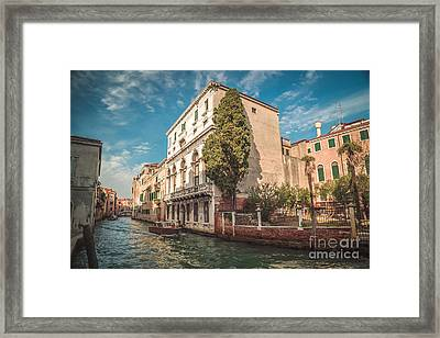 Venetian Architecture And Sky - Venice, Italy Framed Print