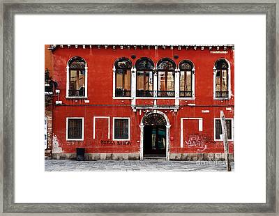Venetian Architecture Framed Print by John Rizzuto
