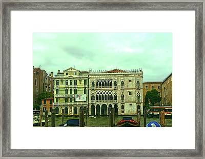Framed Print featuring the photograph Venetian Aternoon by Anne Kotan