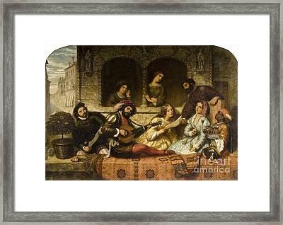 Venetian Balcony Scene Framed Print