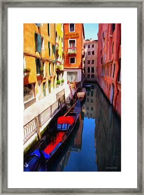 Venetian Canal Framed Print by Jeffrey Kolker