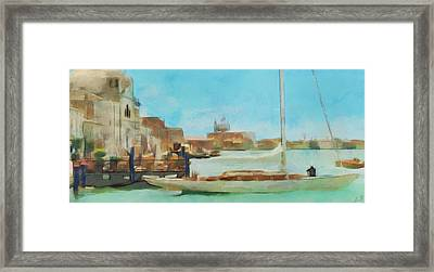 Venetian Canal Framed Print by Sergey Lukashin