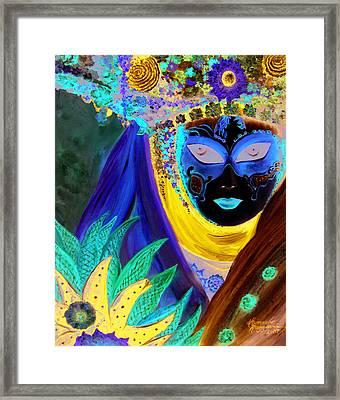 venetian carneval mask IV Framed Print