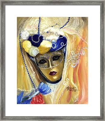 venetian carneval mask V Framed Print