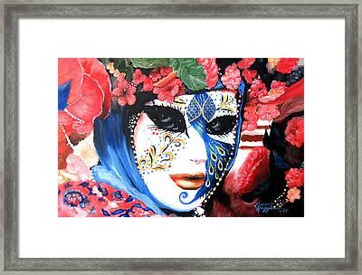 venetian carnevale mask III Framed Print