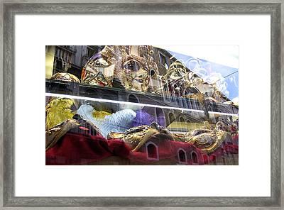 Venetian Carnival Reflections Framed Print
