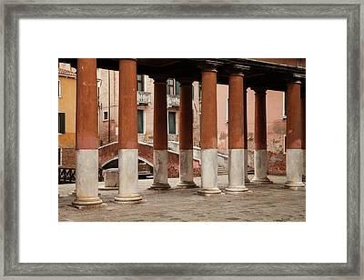 Venetian Columns Framed Print by Art Ferrier