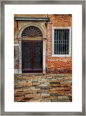 Venetian Door Framed Print by Andrew Soundarajan