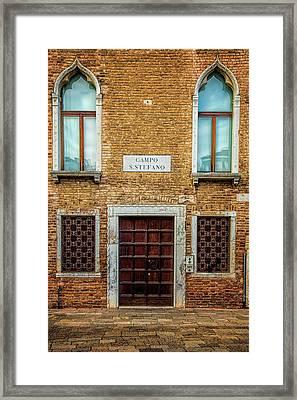 Venetian Facade Framed Print by Andrew Soundarajan