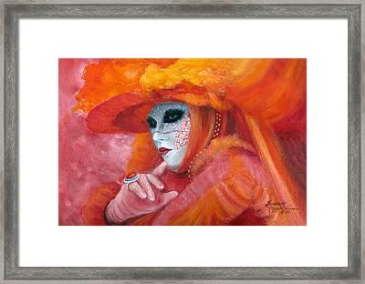 Venetian Flame Framed Print