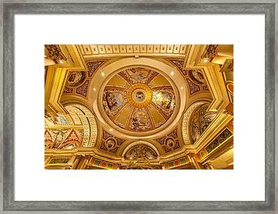 Venetian Hotel Lobby Ceiling Framed Print