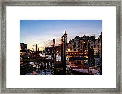 Venetian Impressions - Grand Canal Framed By Signature Paline Framed Print