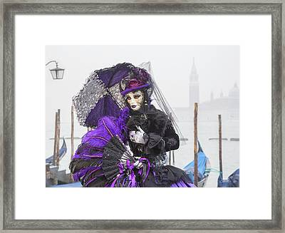 Venetian Lady In Purple Framed Print