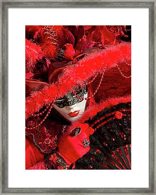 Venetian Lady In Red II  Framed Print