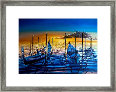 Venetian Lights 7 Framed Print
