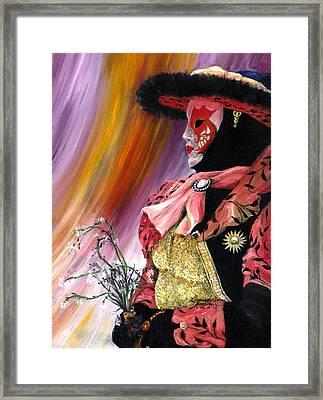 venetian mask VI Framed Print