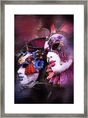 Venetian Masks Framed Print