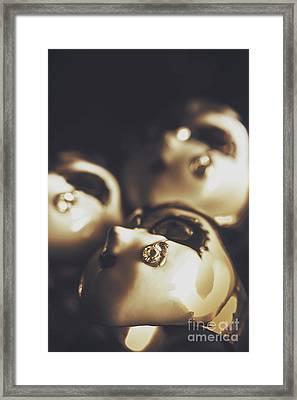 Venetian Masquerade Mask Rings Framed Print