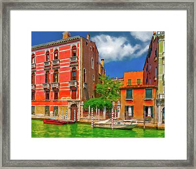 Framed Print featuring the photograph Venetian Patio by Juan Carlos Ferro Duque