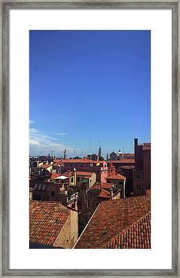 Framed Print featuring the photograph Venetian Skyline by Anne Kotan