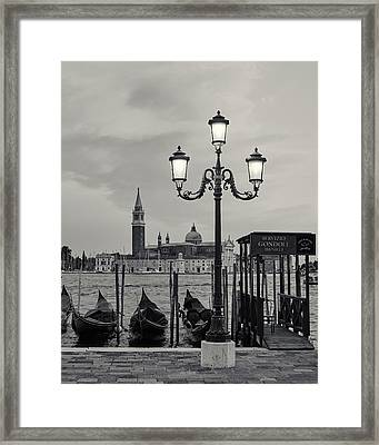 Venetian Streetlamp Framed Print by Richard Goodrich
