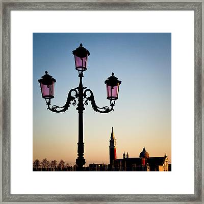 Venetian Sunset Framed Print by Dave Bowman