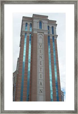 Venetian Tower Las Vegas Framed Print by Alan Espasandin