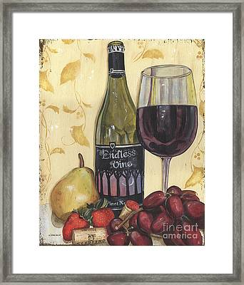 Veneto Pinot Noir Framed Print by Debbie DeWitt